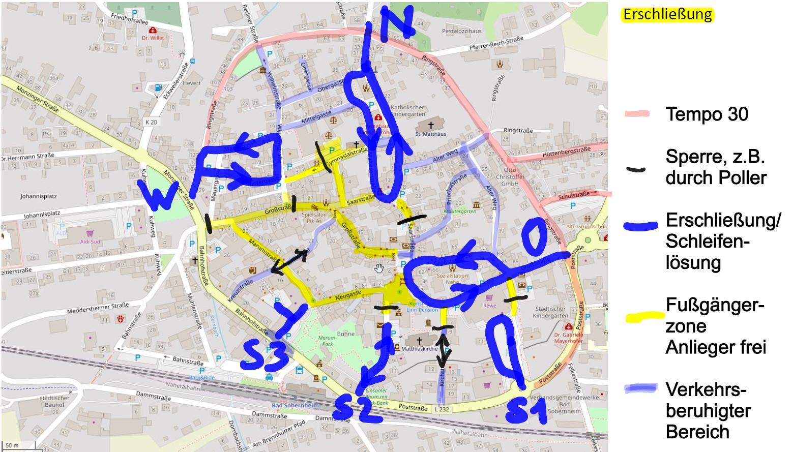 Innenstadtverkehrskonzept der Stadt Bad Sobernheim lässt Priorisierung von Rad- und Fußverkehr vermissen!